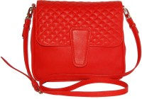 GREENFIELDS Women Red Genuine Leather Sling Bag