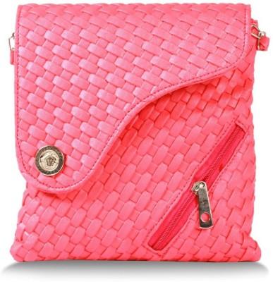 inkdice Women Pink PU Sling Bag