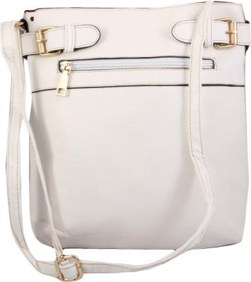 Alishaan Girls, Women White PU Sling Bag