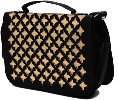Elysin Women Black PU Sling Bag