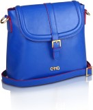 Ccha Women Blue PU Sling Bag