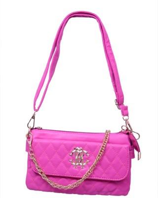 Ruff Women, Women Pink PU Sling Bag