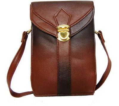 Estoss Women Brown PU Sling Bag