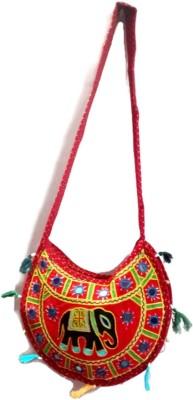 Trend Overseas Women, Girls Multicolor Cotton Sling Bag