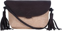 BLUR Women Beige, Brown Leatherette Sling Bag