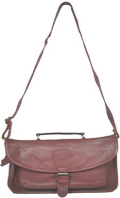 Think Fashion Girls Maroon Genuine Leather Sling Bag