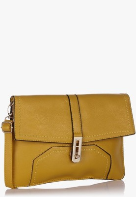 Hot Berries Women Casual Yellow Leatherette Sling Bag