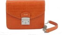 La Roma Women Orange Genuine Leather Sling Bag