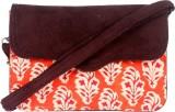 Stylocus Women Orange Cotton Sling Bag