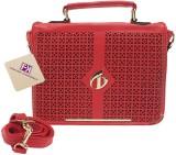 Fashion Knockout Women Red PU Sling Bag