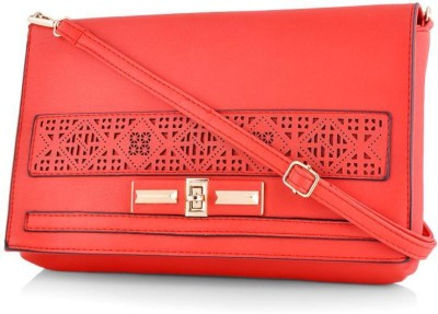 Daphne Women Casual Red PU Sling Bag
