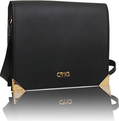 Ccha Women Black PU Sling Bag