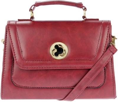 iva Women Maroon Leatherette Sling Bag