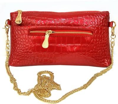DEEANNE LONDON Girls Red PU Sling Bag