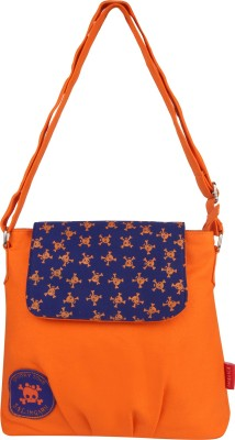 Imagica Women Casual Orange Canvas Sling Bag