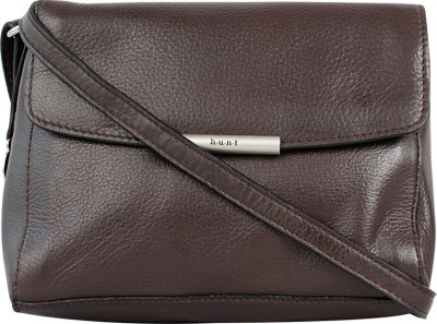 Hunt Women Brown Genuine Leather Sling Bag