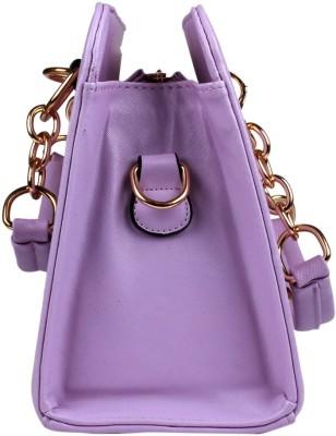 Fiza Women Purple Leatherette Shoulder Bag