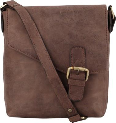 NEHANCHAL Women Tan Genuine Leather Sling Bag