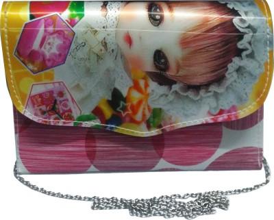 NEHASTORE Women Pink Silk Sling Bag