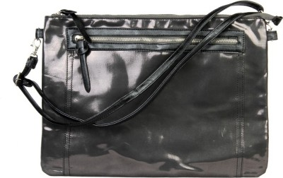 Harp Men, Boys, Girls, Women Casual, Sports Black Leatherette Sling Bag