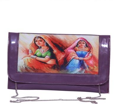 Notbad Women Casual Purple PU Sling Bag