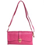 Reedra Women Pink PU Sling Bag
