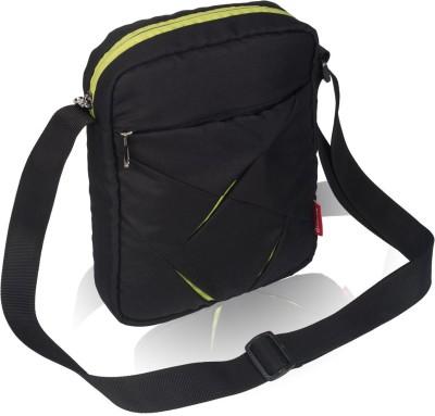 Cosmus Men, Boys Black Polyester Sling Bag