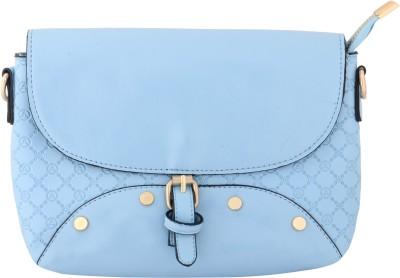 Priya Exports Women, Girls Blue Leatherette Sling Bag