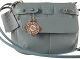 eZeeBags Women Blue Genuine Leather Slin...
