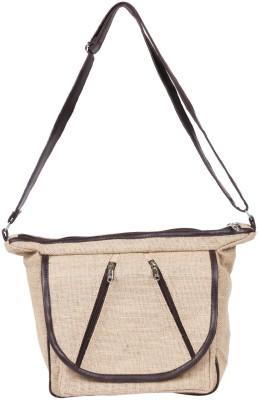 Benicia Women Beige Jute Sling Bag
