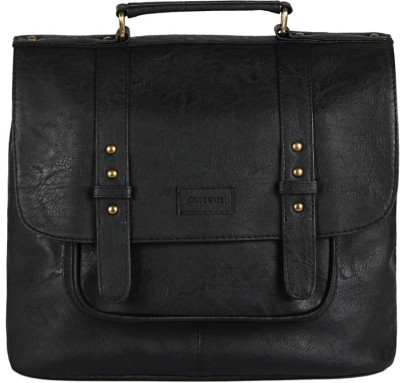 Purseus Women Casual Black PU Sling Bag