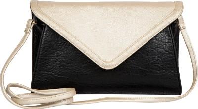 Lomond Women Evening/Party Black, Silver PU Sling Bag