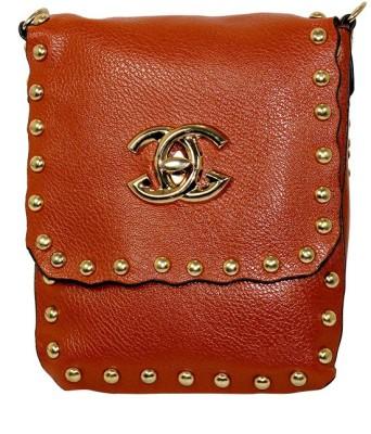 Gift Island Girls Brown Leatherette Sling Bag