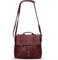Fab Fashion Women Red Polyester Sling Bag