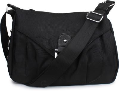 Do Bhai Women Black PU Sling Bag