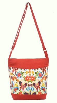 Shilpkart Women, Girls Red Canvas Sling Bag