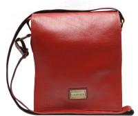 Chanter Men Red Leatherette Sling Bag