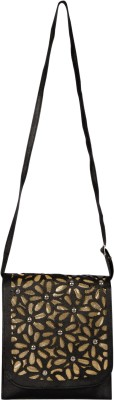 Starz Women Black PU Sling Bag