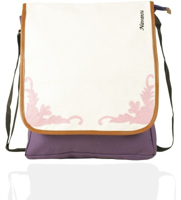 NAVANSU Girls Purple, Multicolor Canvas Messenger Bag