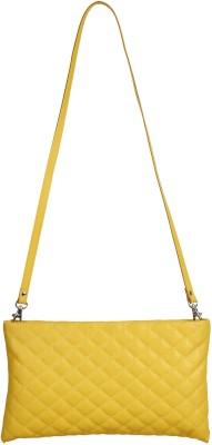 Anekaant Women Yellow PU Sling Bag