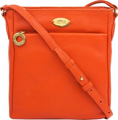 Hidesign Women Orange Genuine Leather Sling Bag