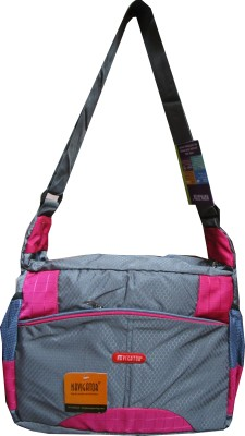 Navigator Men, Women Casual Grey, Pink PU Sling Bag