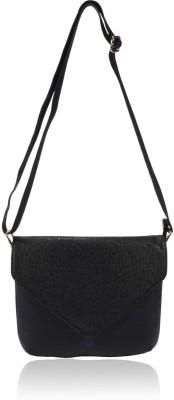 Yark Women Casual Black Polyester Sling Bag