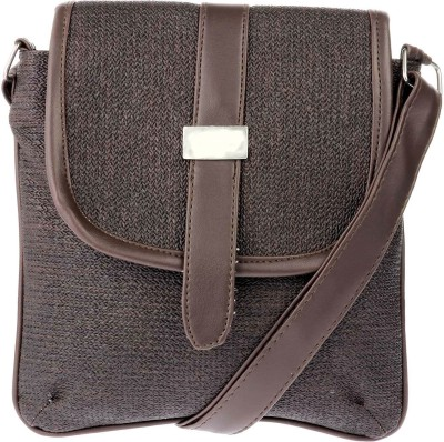 JG Shoppe Women Brown PU Sling Bag