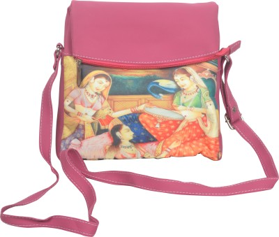 Freddys Men, Women Casual Pink PU Sling Bag