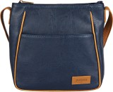 Purseus Women Casual Blue PU Sling Bag