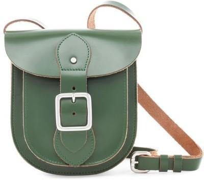 Viari Women Casual Green Genuine Leather Satchel