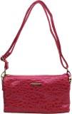 Trendy Women Pink PU Sling Bag