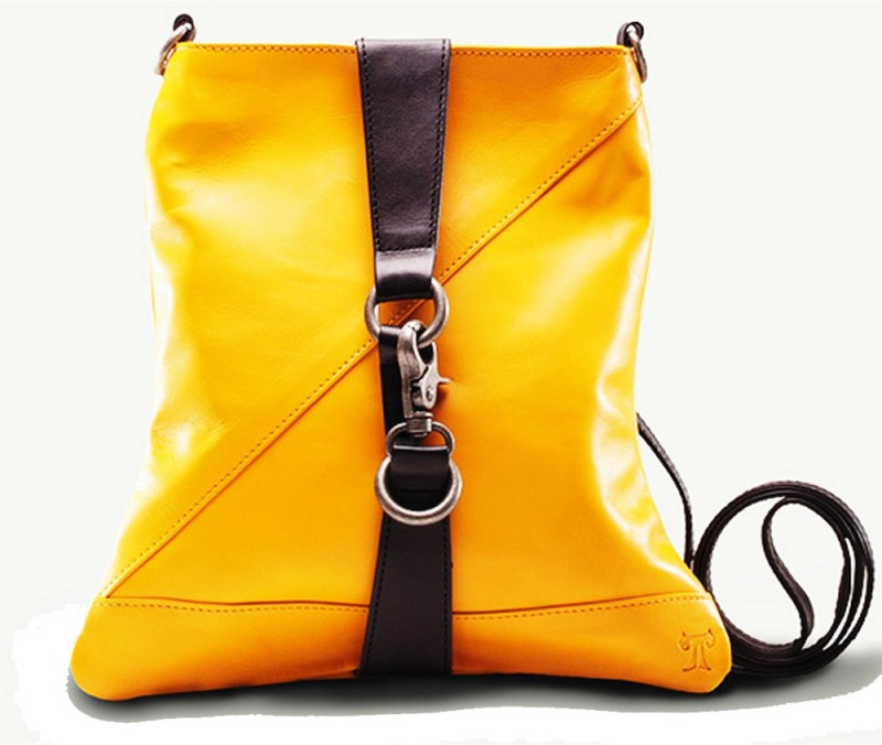 TWACH Women Casual Yellow Genuine Leather Sling Bag Social