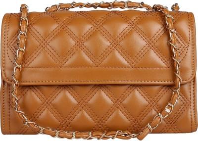 ToniQ Girls, Women Brown PU Sling Bag